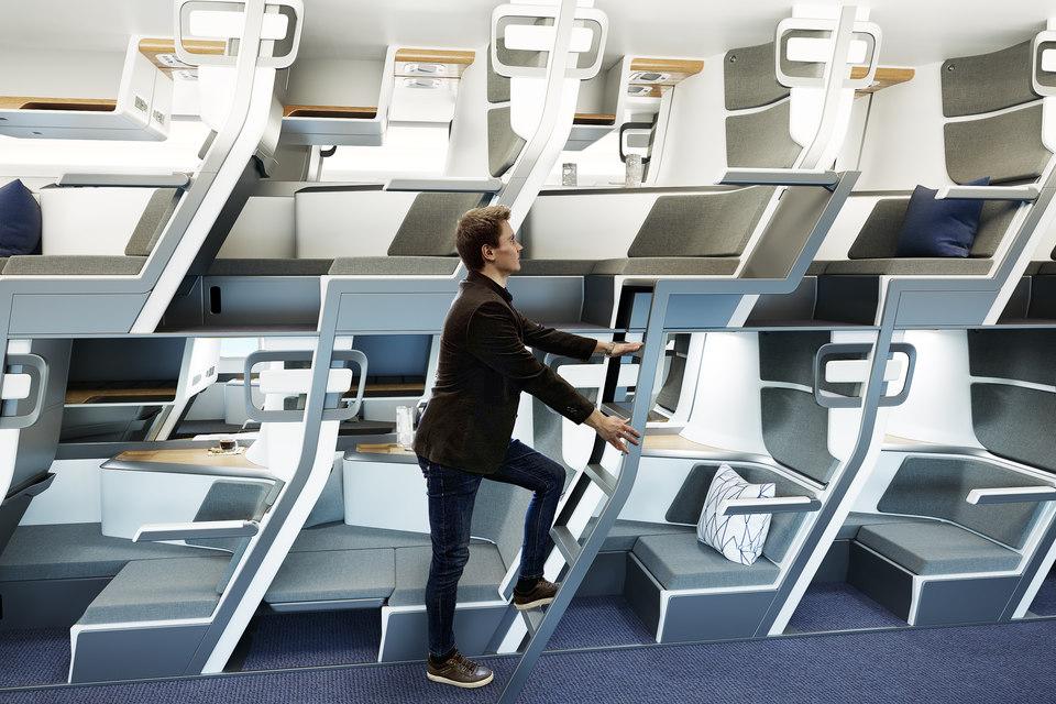 Двухэтажные кресла: новый способ защиты от COVID-19