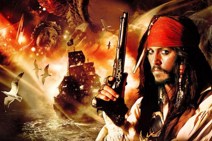 Фон пираты карибского моря джек воробей