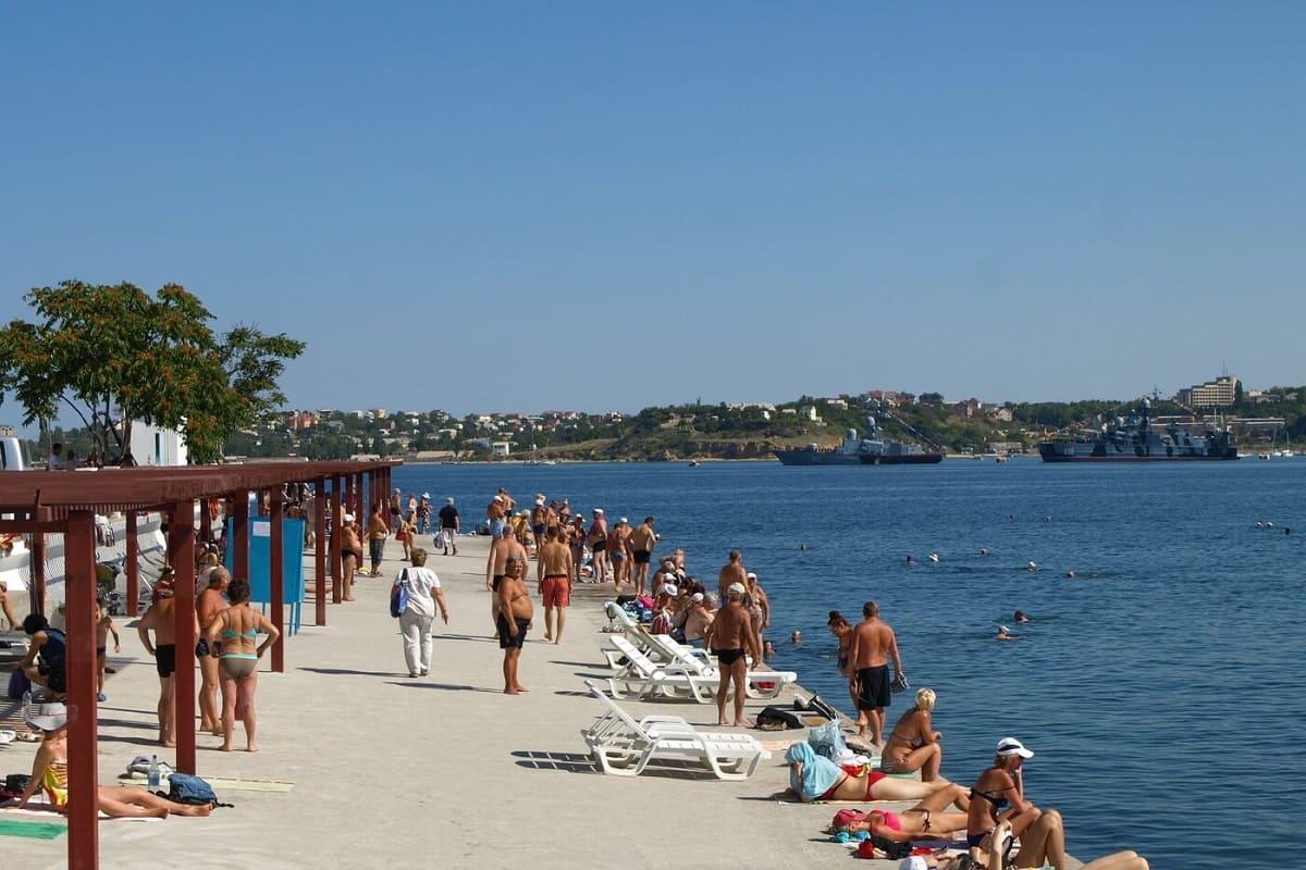 Фото севастополя пляж хрустальный